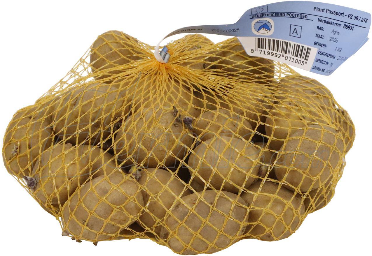 Pootaardappel Agria zakje 1kg