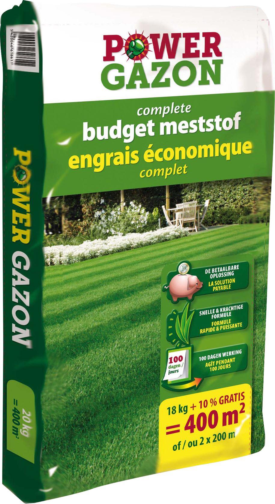 Power gazon 20kg - Complete budget meststof voor 400 m² - NPK 12-6-8- + 3MgO