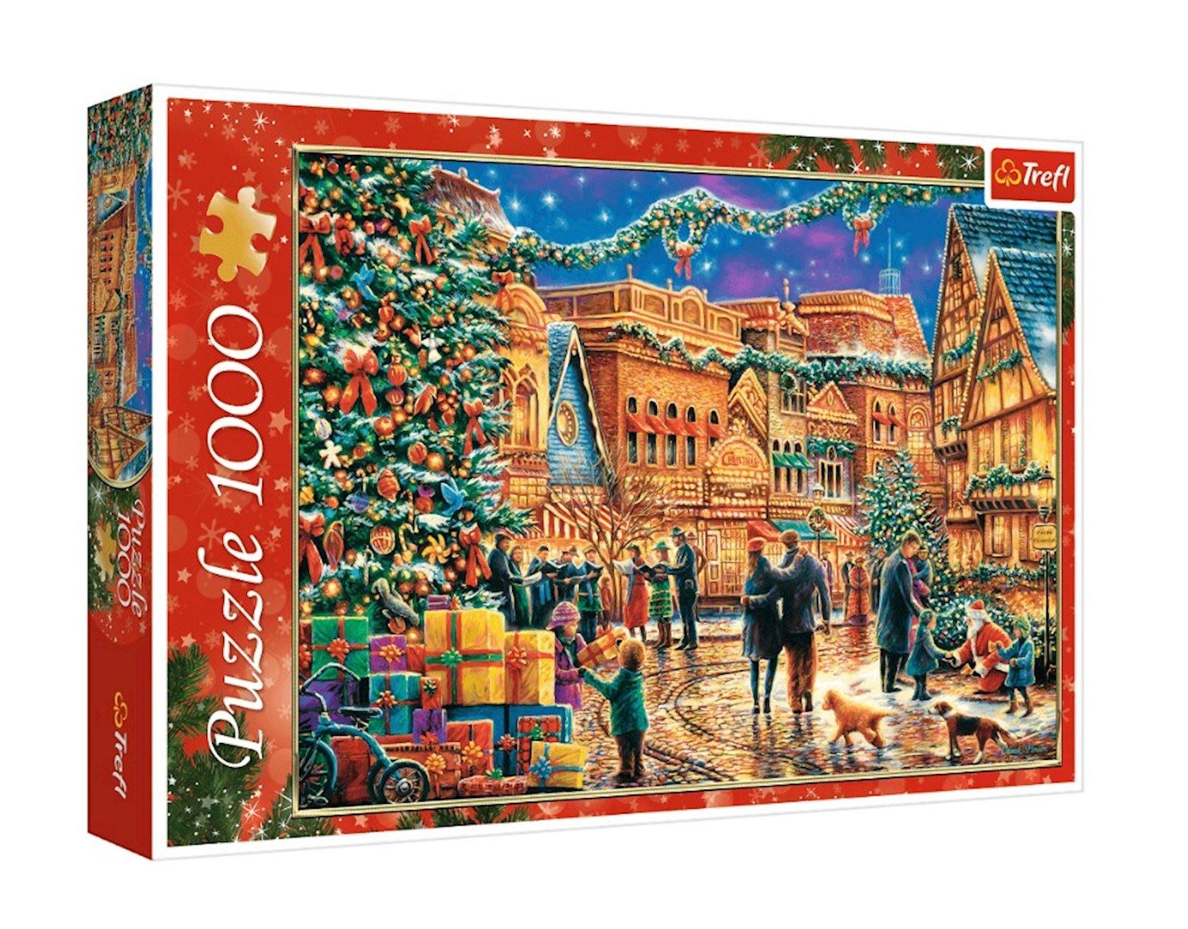 Puzzel Trefl 1000 stuks - Kerstmarkt
