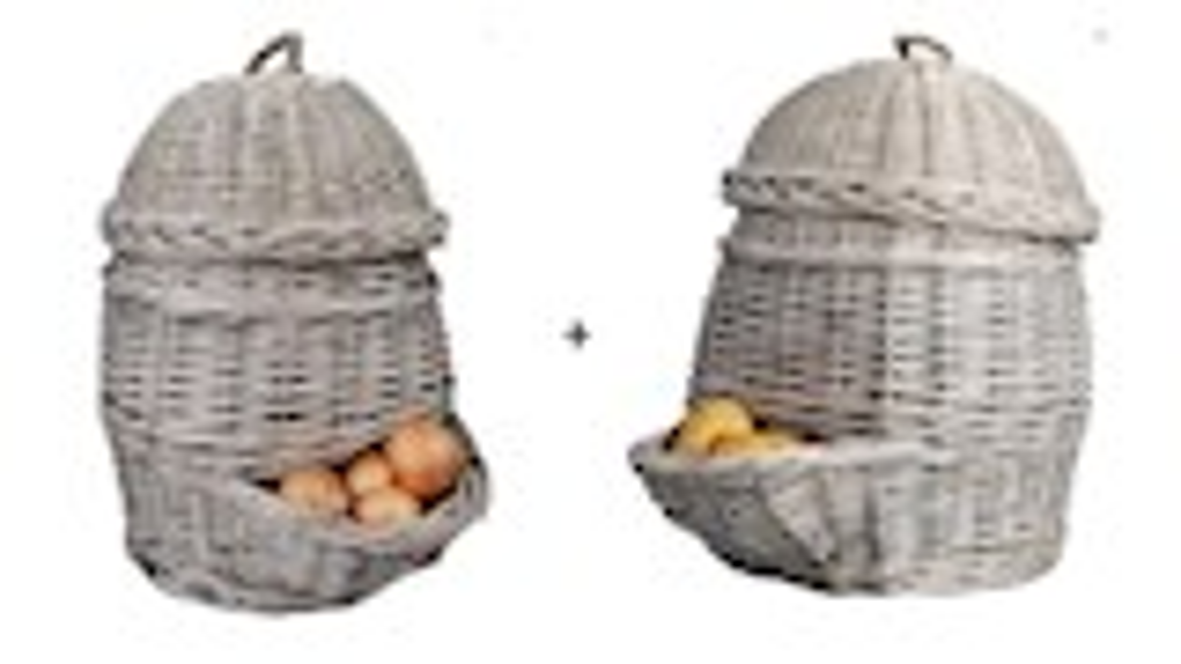 Set van 2 voorraadmanden voor uien en aardappelen