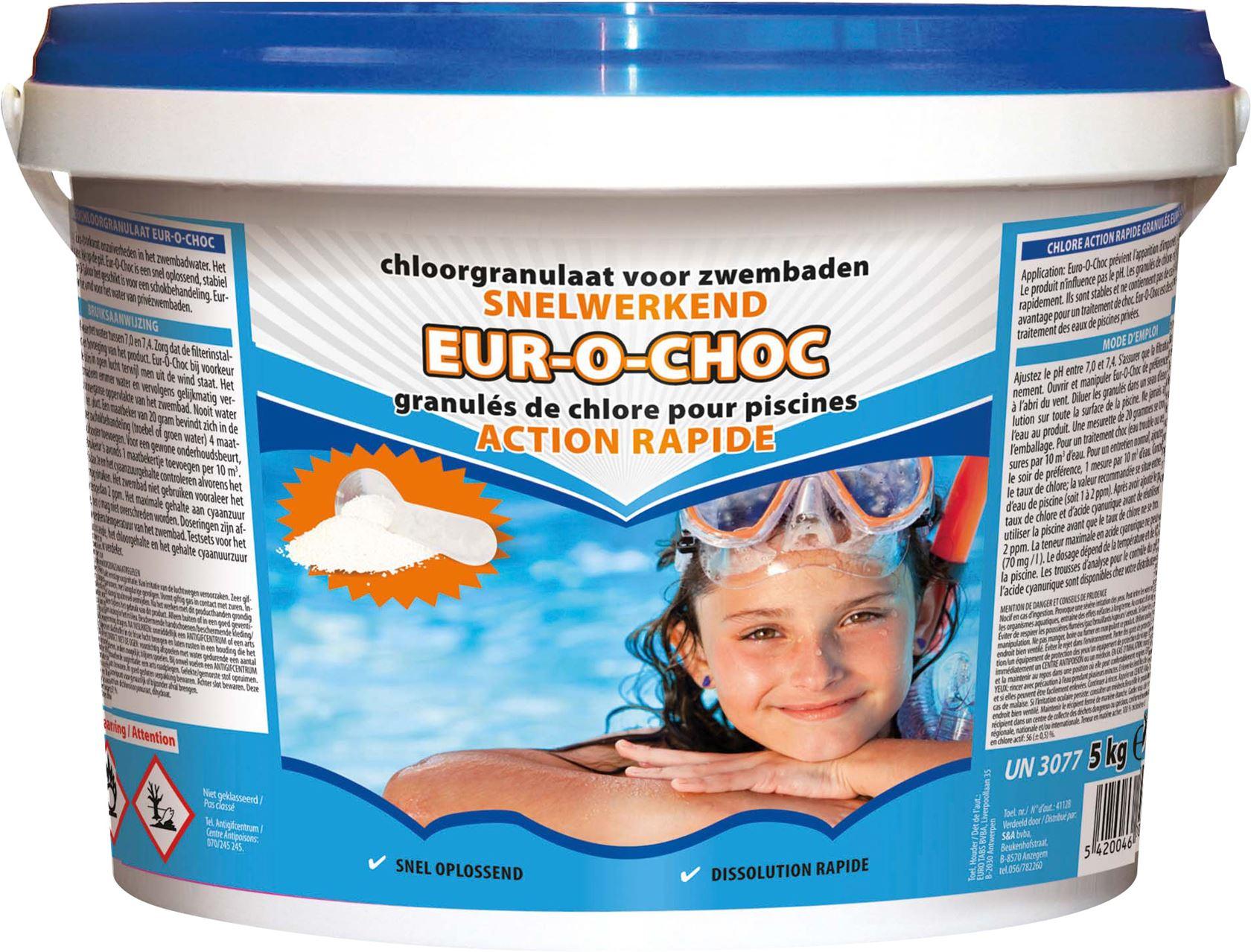 Snelwerkend chloor 5kg - granulaat