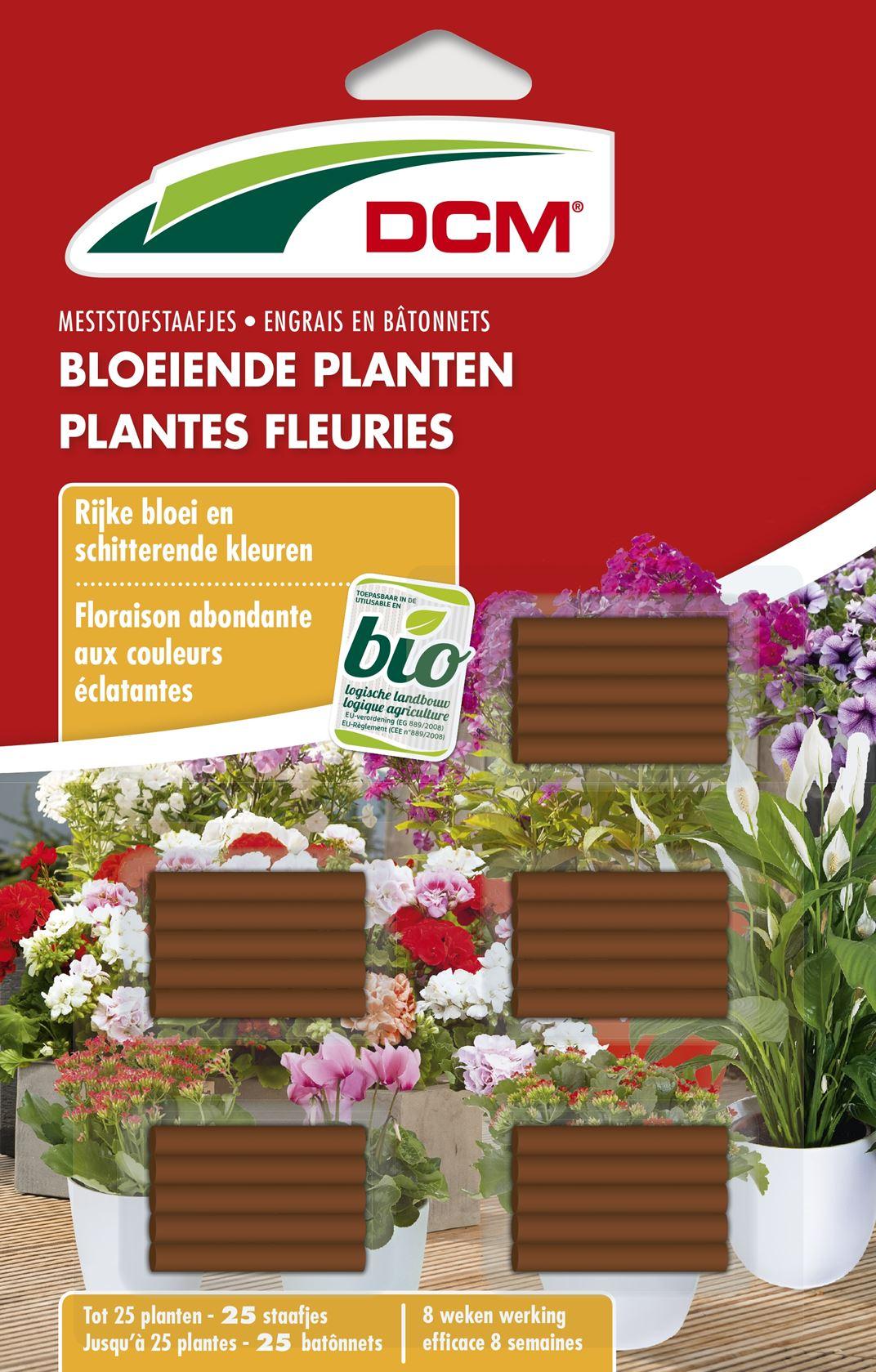 Staafjes meststof bloeiende planten 25 stuks