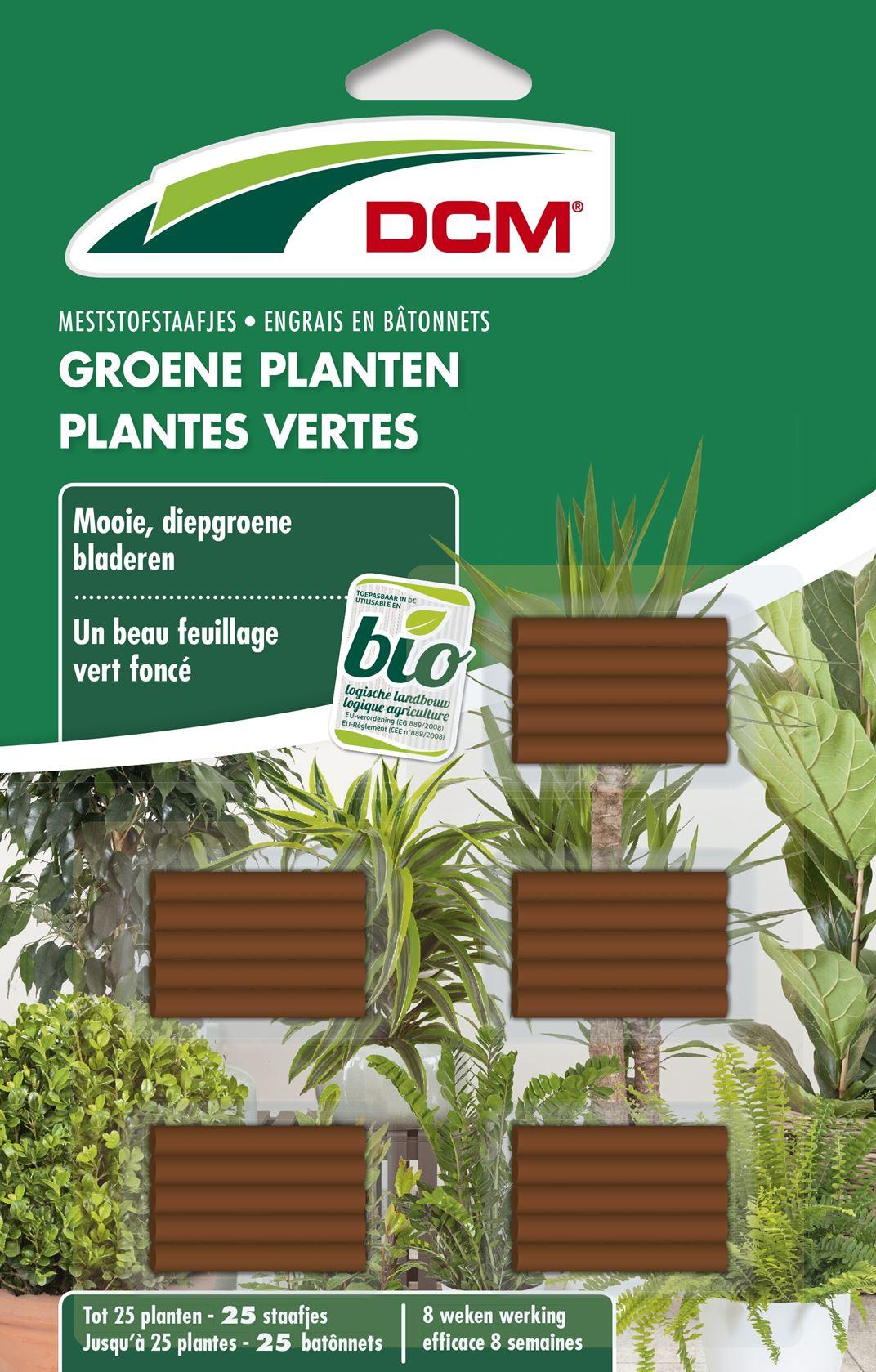 Staafjes meststof groene planten 25 stuks