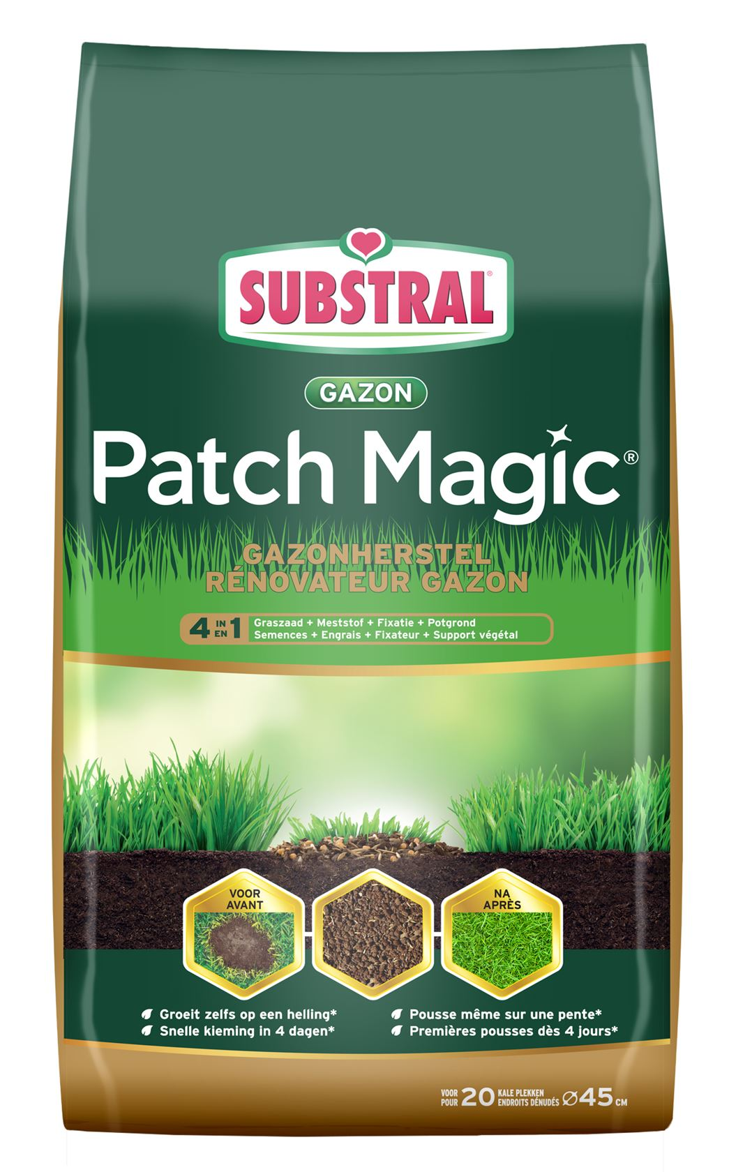 Substral patch magic® gazonherstel 4-in-1 - 1,5kg