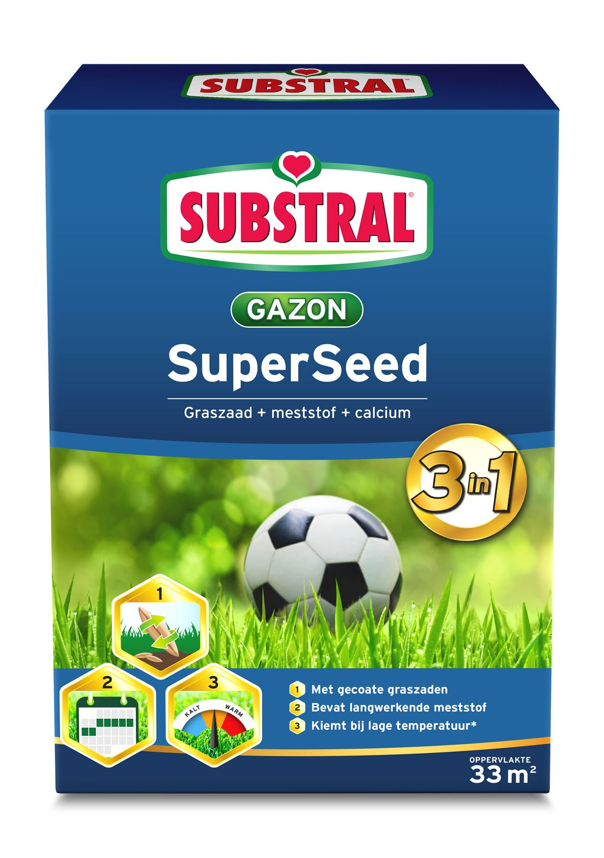 Substral Super Seed 3-In-1 33m²