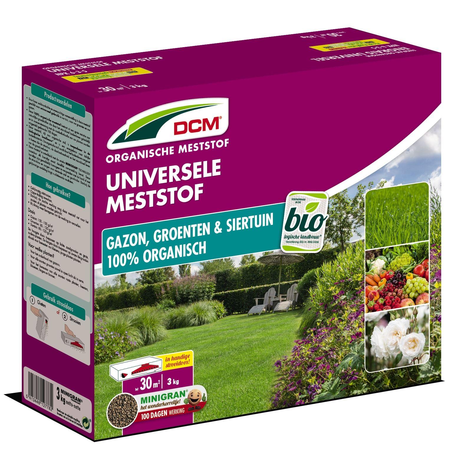 Universele meststof voor gazon, groenten en sierplanten 3kg - Bio