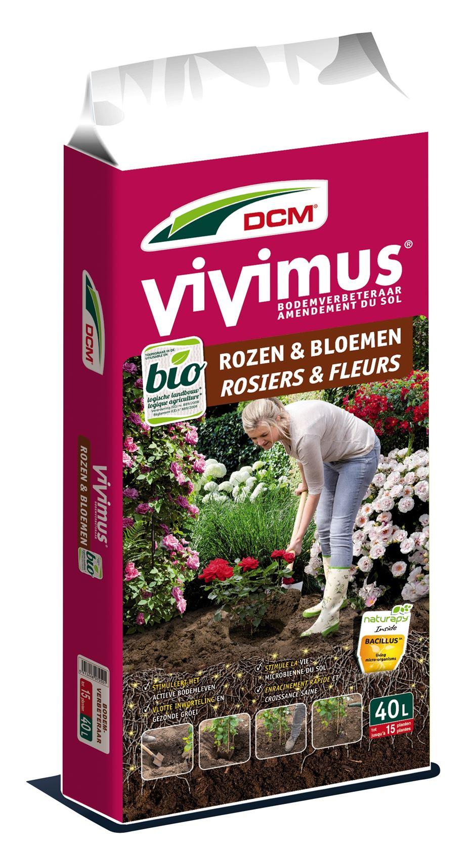 Vivimus bodemverbeteraar rozen & bloemen 40L - Bio