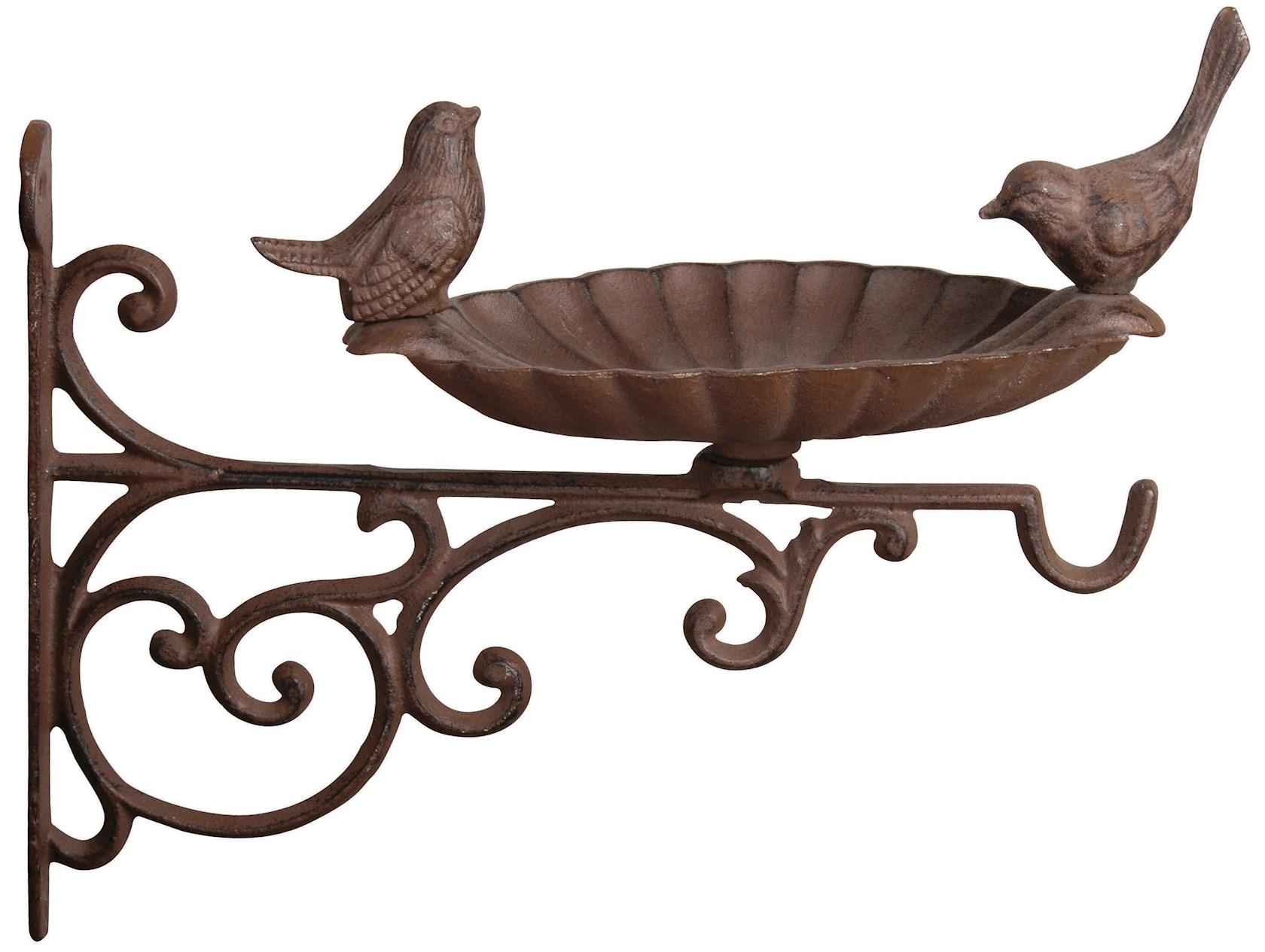 Wandvoederschaal vogels in gietijzer