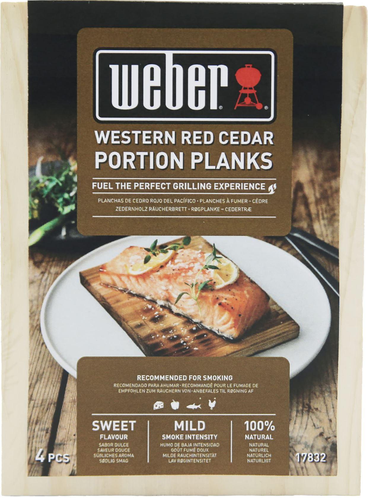 Weber® Western Red Cedar Wood Portion Planks 15x11cm - set 4 stuks