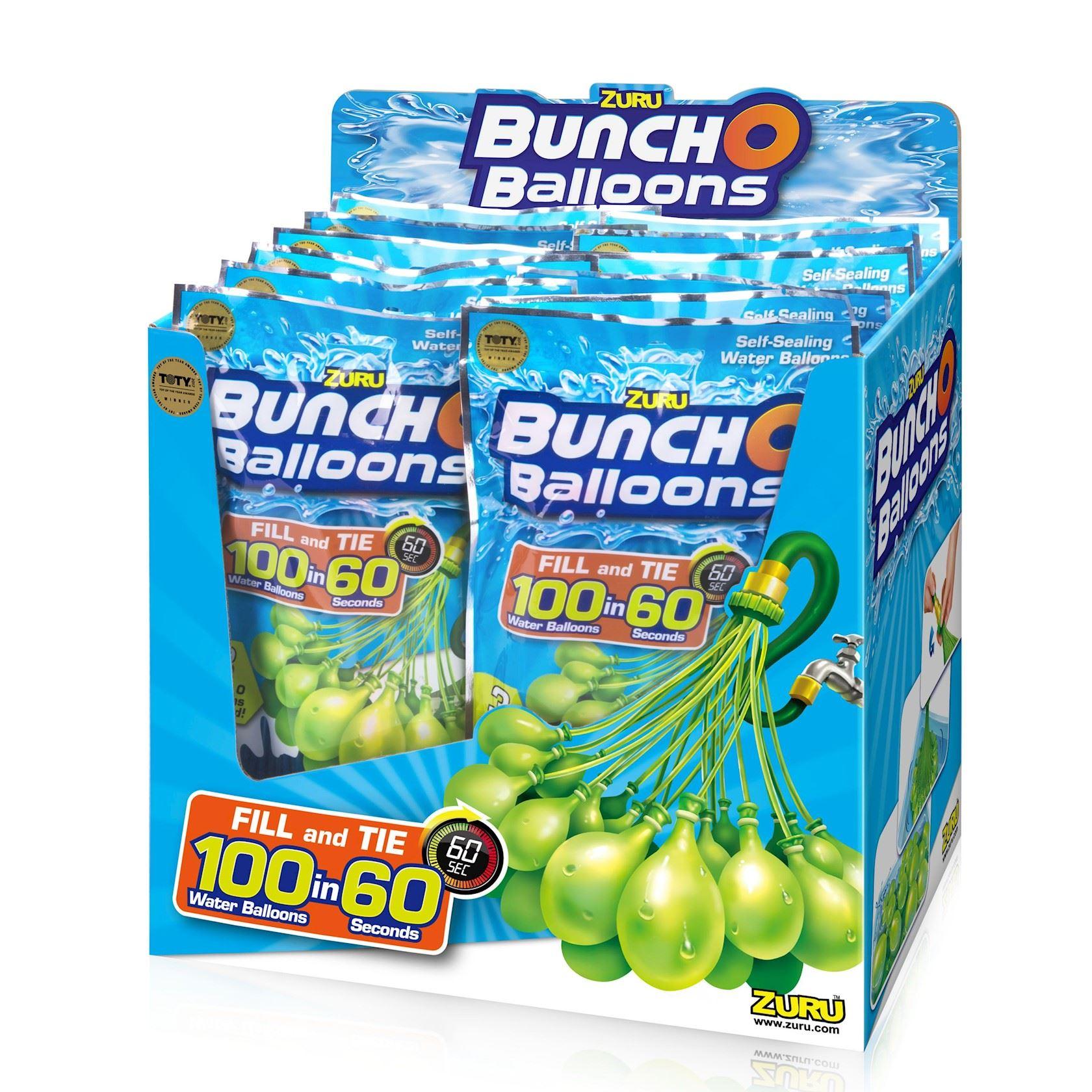 Waterbalonnen 100 stuks vulbaar in 60 seconden! - Zuru Bunch O Ballons